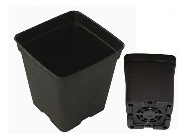 Maceta Cuadrada Negra 11 Litros de Plástico
