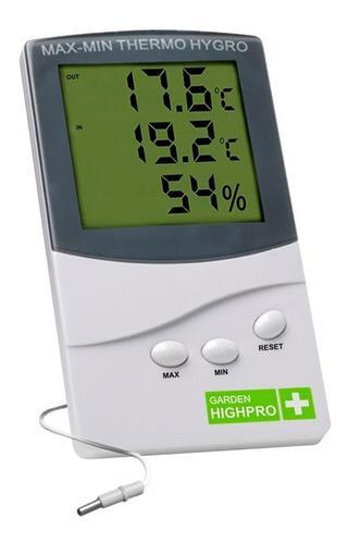 Termohigrometro Medidor Garden Temperatura Humedad C/sonda